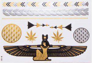 planches de tatouages éphémères