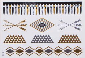 feuilles de tatouages temporaires
