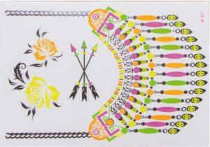 planche tatouages éphémères